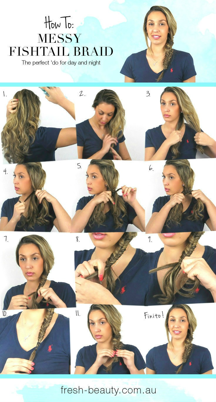 Fresh Tv Video Tutorial How To Get A Messy Side Fishtail Braid